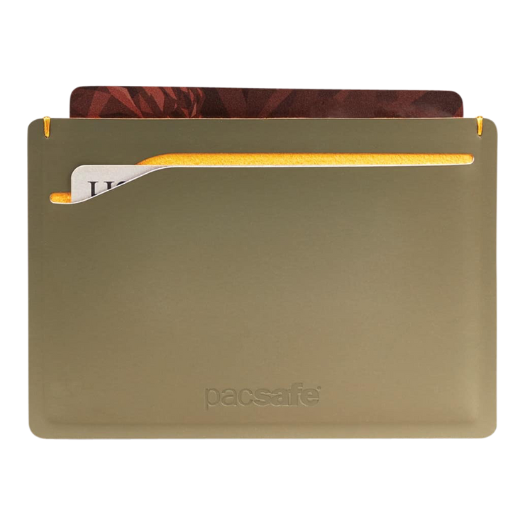 Pacsafe RFIDsafe TEC Sleeve Wallet (Utility Green) - Cards