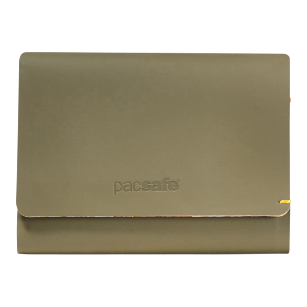 Pacsafe RFIDsafe TEC Trifold Wallet (Utility Green) - Front View