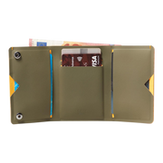 Pacsafe RFIDsafe TEC Trifold Wallet (Utility Green) - Open View