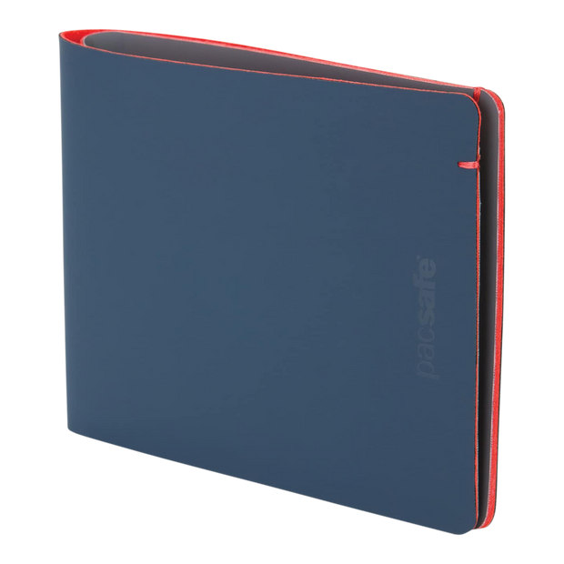 Pacsafe RFIDsafe TEC Bifold Wallet (Navy/Red) - Slim Profile