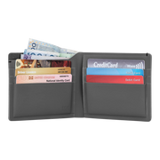 Pacsafe RFIDsafe TEC Bifold Wallet (Black) - Open View