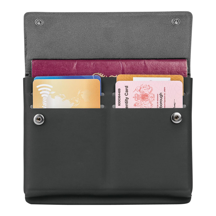 Pacsafe RFIDsafe TEC Passport Wallet (Black) - Open View