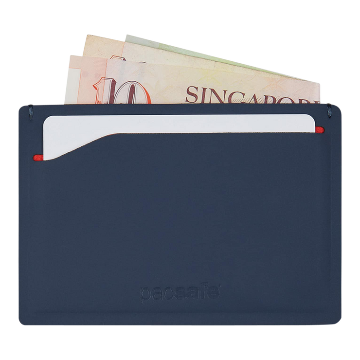 Pacsafe RFIDsafe TEC Sleeve Wallet (Navy/Red) - Cash & Card