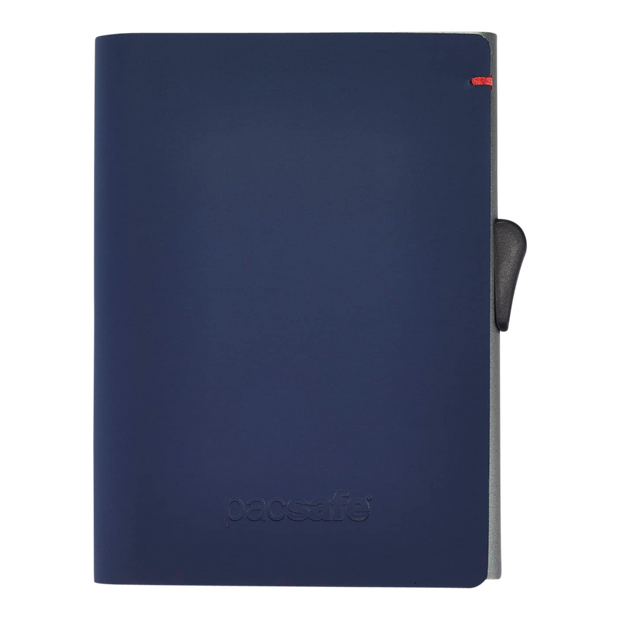 Pacsafe RFIDsafe TEC Slider Wallet (Navy/Red) - Front View