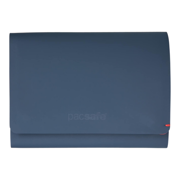 Pacsafe RFIDsafe TEC Trifold Wallet (Navy/Red) - Front View