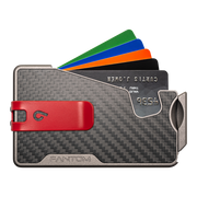 Fantom R 10 Carbon Fibre Wallet - Red Money Clip