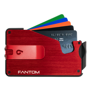 Fantom S 13 Coin Holder Aluminium Wallet (Red) - Red Money Clip