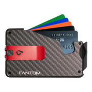 Fantom S 7 Regular Carbon Fibre Wallet - Red Money Clip