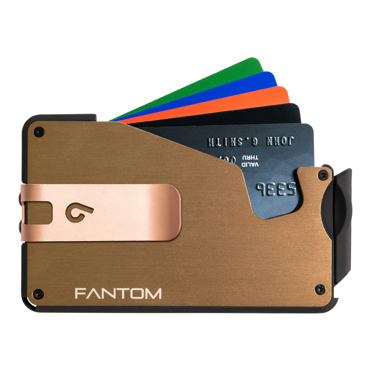 Fantom S 7 Regular Aluminium Wallet (Gold) - Rose Gold Money Clip