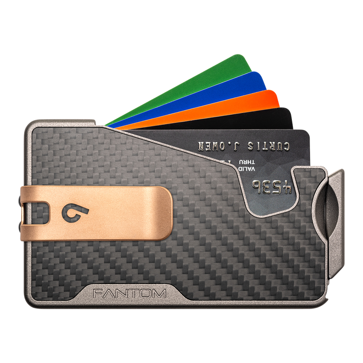 Fantom R 10 Carbon Fibre Wallet - Rose Gold Money Clip