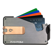 Fantom S 7 Coin Holder Aluminium Wallet (Silver) - Rose Gold Money Clip