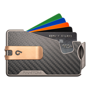 Fantom R 7 Carbon Fibre Wallet - Rose Gold Money Clip