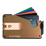 Fantom S 13 Coin Holder Aluminium Wallet (Gold) - Rose Gold Money Clip
