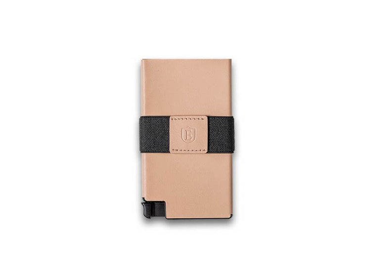 Ekster Senate Leather Card Holder Wallet (Blush Beige) - Front View