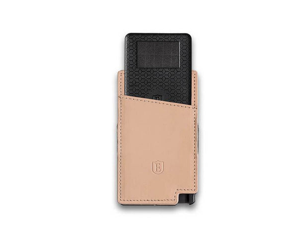 Ekster Senate Leather Card Holder Wallet (Blush Beige) - Tracker Card