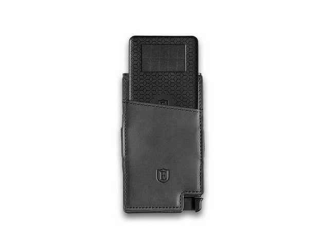 Senate Leather Card Holder Wallet (Nappa Black) - Tracker Card