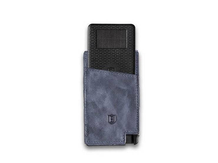 Ekster Senate Leather Card Holder Wallet (Steel Blue) - Tracker Card