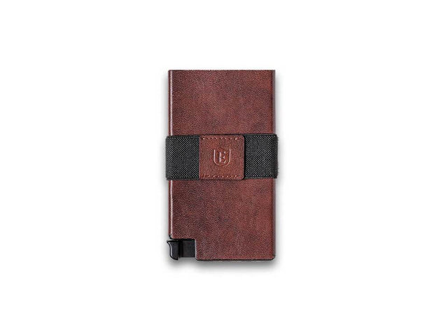 Ekster Senate Leather Card Holder Wallet (Classic Brown) - Front View