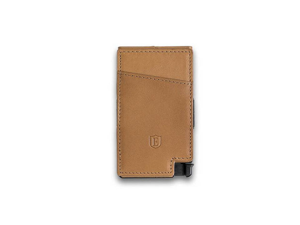 Ekster Senate Leather Card Holder Wallet (Roma Cognac) - Back View