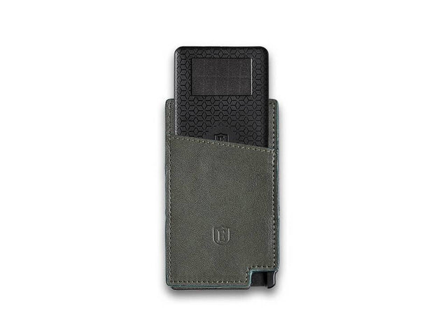 Ekster Senate Leather Card Holder Wallet (Juniper Green) - Tracker Card
