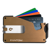 Fantom S 10 Regular Aluminium Wallet (Gold) - Silver Money Clip