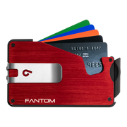 Fantom S 7 Coin Holder Aluminium Wallet (Red) - Silver Money Clip