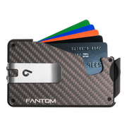 Fantom S 7 Regular Carbon Fibre Wallet - Silver Money Clip