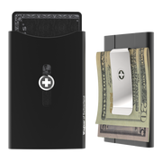 Wagner SwissWallet Original Aluminium Wallet (Jet Black) - Money Clip