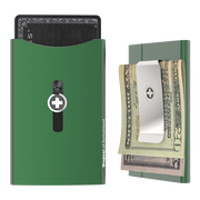 Wagner SwissWallet Original Aluminium Wallet (Sage Green) - Money Clip