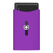 Wagner SwissWallet Original Aluminium Wallet (Royal Purple) - Front View