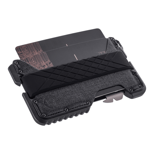 Dango T01 Tactical Spec-Ops Special Edition Wallet (Gunmetal) - Cards Fanned