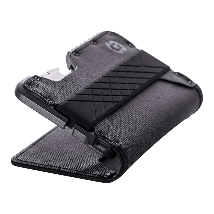 Dango T01 Tactical Bifold Spec-Ops Special Edition Wallet (Gunmetal) - Silicone Band