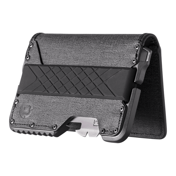 Dango T01 Tactical Bifold Spec-Ops Special Edition Wallet (Gunmetal) - Angled View