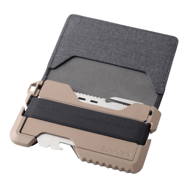 Dango T01 Tactical Bifold Spec-Ops Wallet (Desert Sand) - Cerakote Ceramic Coating
