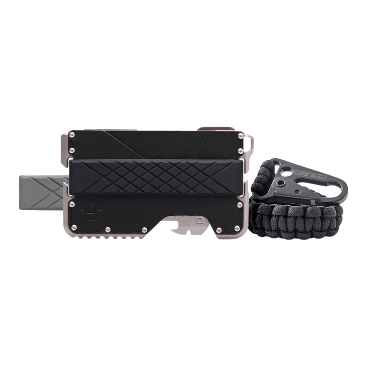 Dango T02 Titanium Tactical Single Pocket Wallet Bundle - Complete View