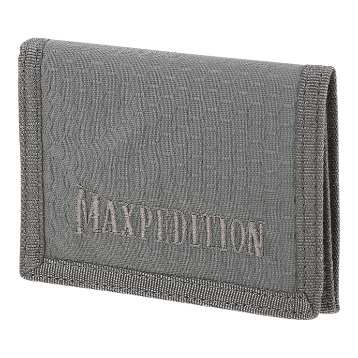 Maxpedition AGR TFW Trifold Wallet (Grey) - Front View