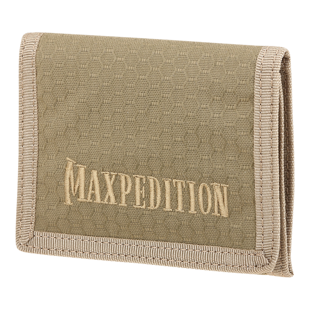Maxpedition AGR TFW Trifold Wallet (Tan) - Front View
