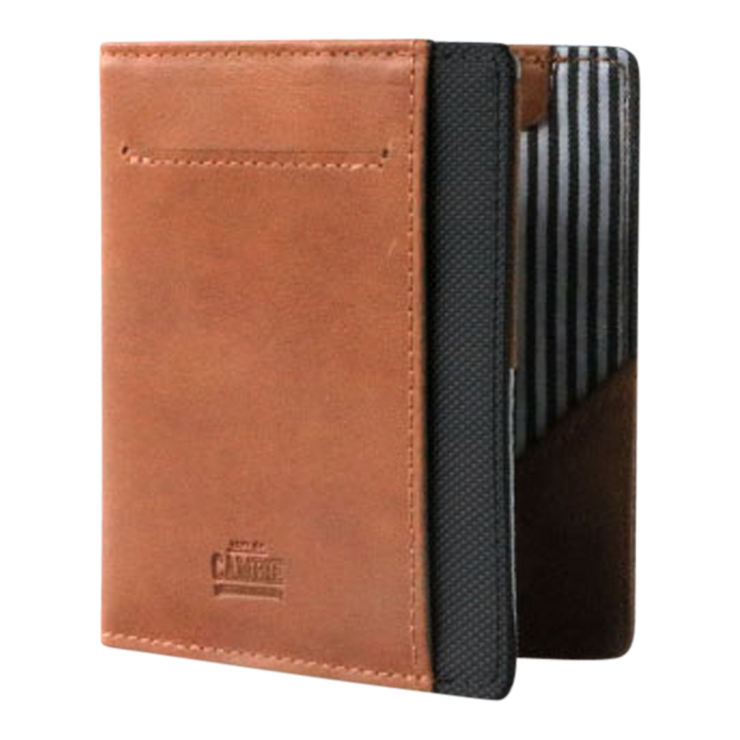 Loft of Cambie Flip Wolyt with RFID Shield (Tan/Black) - Front View