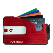 Fantom S 10 Coin Holder Aluminium Wallet (Red) - Teal Money Clip