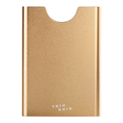 Thin King Gorditio Aluminium Card Case (Champagne) - Front View