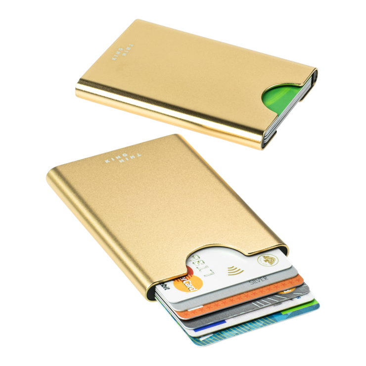 Thin King Gorditio Aluminium Card Case (Champagne) - RFID Safe