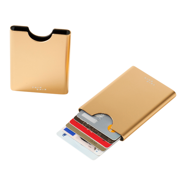 Thin King Gorditio Aluminium Card Case (Champagne) - Compact & Lightweight