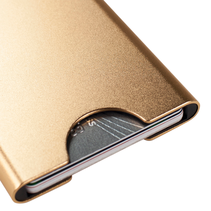 Thin King Gorditio Aluminium Card Case (Champagne) - Anodised Aluminium
