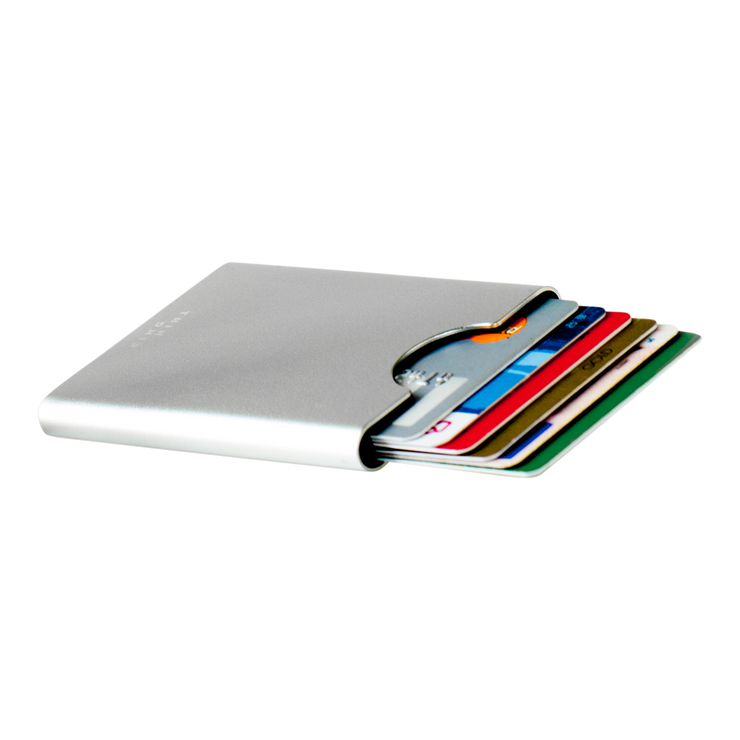 Thin King Gorditio Aluminium Card Case (Silver) - Cards Fanned