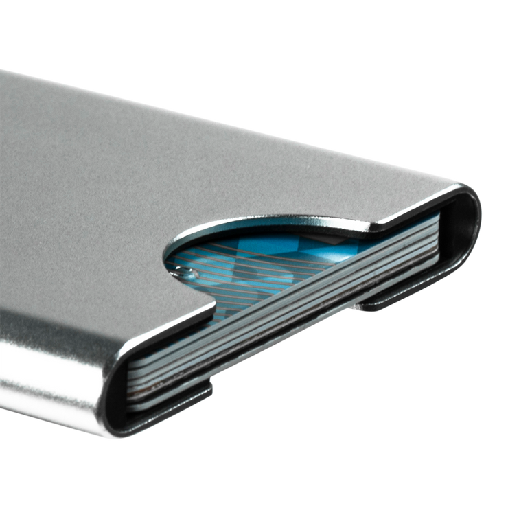 Thin King Gorditio Aluminium Card Case (Silver) - Anodised Aluminium