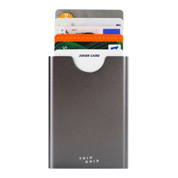 Thin King Gorditio Aluminium Card Case (Titan) - Cards Fanned