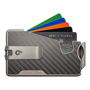 Fantom R 10 Carbon Fibre Wallet - Silver Money Clip