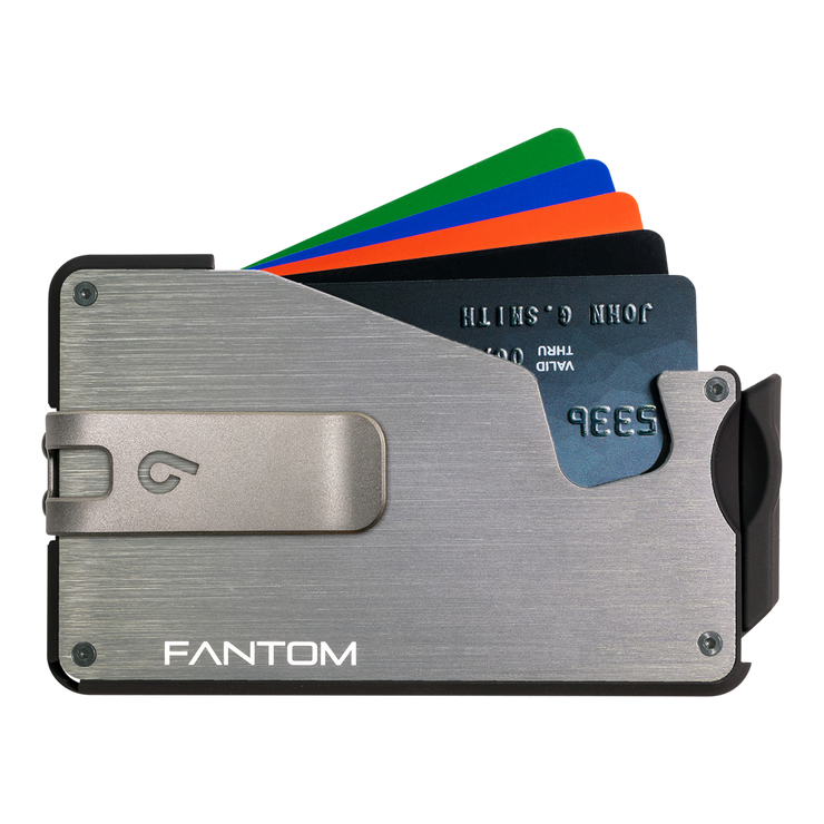 Fantom S 7 Regular Aluminium Wallet (Silver) - Silver Money Clip