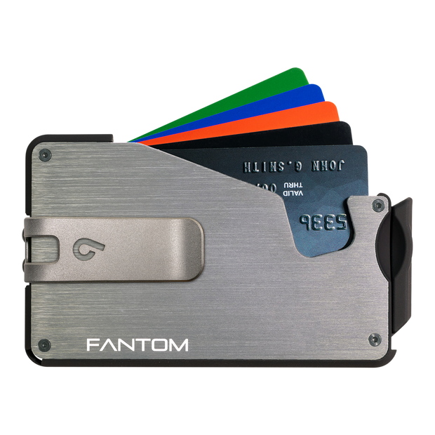 Fantom S 10 Coin Holder Aluminium Wallet (Silver) - Silver Money Clip