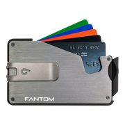 Fantom S 13 Regular Aluminium Wallet (Silver) - Silver Money Clip